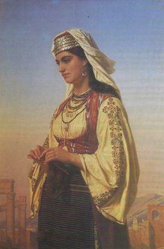 Emile Vernet-Lecomte, A Greek Beauty, 1871, Oil on canvas, 125,7 x 113,7 cm, Private Collection