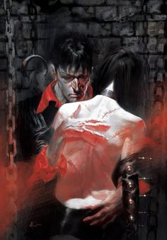 Dylan Dog Mater Morbi cover - Roberto Recchioni, illustration by Massimo Carnevale