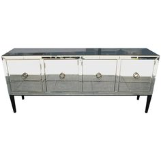 Mirrored Credenza or Buffet   From a unique collection of antique and modern credenzas at https://www.1stdibs.com/furniture/storage-case-pieces/credenzas/