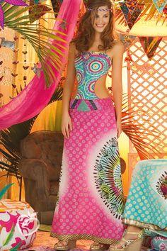 Paradizia Swimwear 'Mandala Pink' Cover Up by Paradizia 2013 | The Orchid Boutique