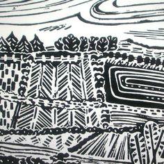 Fallowfield original lino print  £15.00