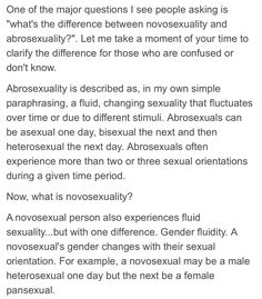 I'm learning more and more about different sexualities and wow, it's incredible!