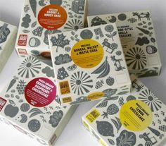 Fun Food Packaging via Smashfreakz. In the pic: organic food packaging by Mind Design Cake Packaging, Food Packaging Design, Pretty Packaging, Brand Packaging, Branding Design, Packaging Ideas, Smart Packaging, Cheese Packaging, Food Branding