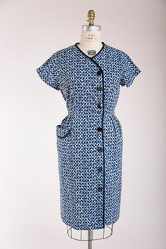 Indigo Daybreak 1950s Day Dress from Simply Vintage Boutique