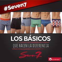 Todos somos básicos, todos somos Seven7. #Rounderwear #Seven7 #Colores #Colors