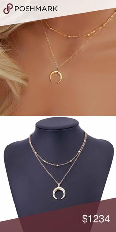 New Arrival!! Gorgeous Fashion Boho Moon Necklace New Arrival!!!! Gold Fashion Boho Moon Necklace. Any Questions Please Ask, I Will Be Happy To Assist! Thanks For Browsing & Happy Poshing!!🎉🎉🎉🎉 Jewelry Necklaces