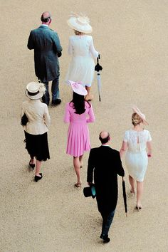 lovelyprincessdiana: Queen's Garden Party, June 2012-Prince of Wales, Duchess of Cornwall, Princess Royal, Duchess of Cambridge, Earl and Countess of Wessex