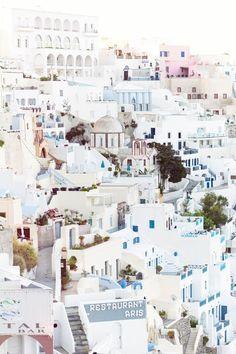 Santorini, Greece.  Destinations to add to your bucket list. | travel ideas & Wanderlust inspiration