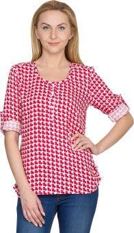 U&F Casual Full Sleeve Geometric Print Women's Top