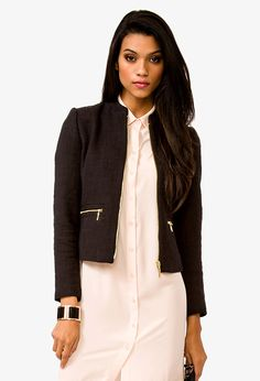 Zip Pocket Tweed Jacket. Looks like Chanel