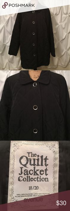 Quilted Black Jacket Quilted Black Jacket Avenue Jackets & Coats