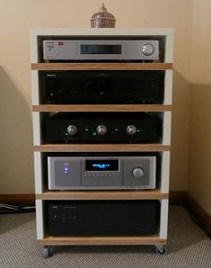 awesome home built hifi rack made of ikea lack coffee tables design pinterest lack table. Black Bedroom Furniture Sets. Home Design Ideas