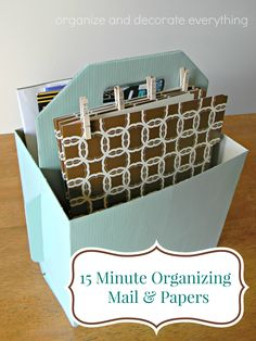 15 Minute Organizing Mail and Papers - Organize and Decorate Everything #31days #15minuteorganizing