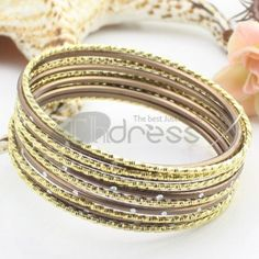 http://www.thdress.com/The-brown-11-laps-alloy-bracelet-p13728.html