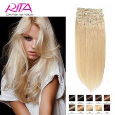 Kleur 60 # Clip in Human Hair Extensions Blond Menselijk Haar Clip In Extensions 70g-200g Platinablond Remy Menselijk Haar Clip In