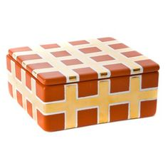 Gold Grid Square Box, by Waylande Gregory. Available at ahalife.com