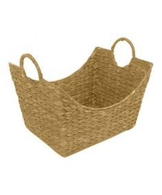 This Yellow Woven Basket is perfect! #zulilyfinds
