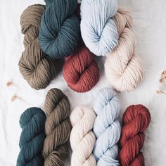 Our new wool colors have arrived for Osprey and Chickadee and we're in love all over again. Canvas Root Maple Smoke and Stream - do you have a favorite?  #quinceandco
