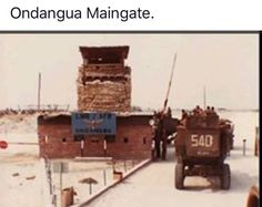 Ondangwa main gate -very aerly in its life Once Were Warriors, Army Pics, South African Air Force, Army Day, Troops, Soldiers, Brothers In Arms, Defence Force, My Heritage