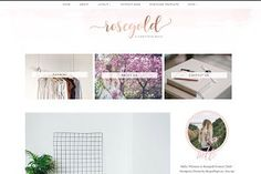 Rosegold - a wonderful and feminine Wordpress blog Theme for fashion and lifestyle bloggers. #Ad