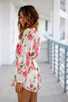 Rose Long Sleeve Romper