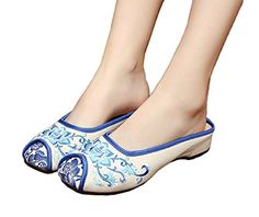 AvaCostume Womens Embroidery Rubber Sole Round Toe Casual Flats Ladies Slipper Shoes, White, 39 AvaCostume http://www.amazon.com/dp/B01D2Q84JM/ref=cm_sw_r_pi_dp_SzB8wb19VCASC