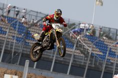 Clement Desalle at the Lausitzring for the 13th round of the World Motocross Championship on his Rockstar Energy Suzuki RM-Z450 #MX