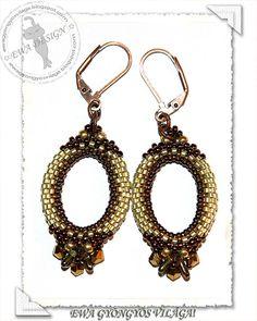 Orynna beaded earrings PDF pattern by EwaHotBeads on Etsy
