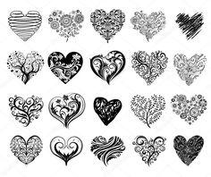 Buy Tattoo Hearts by Azzzzya on GraphicRiver. Set of 20 tattoo hearts, vector image. 12 Tattoos, Bild Tattoos, Sister Tattoos, Flower Tattoos, Body Art Tattoos, Small Tattoos, Tatoos, Locket Tattoos, Rosary Tattoos