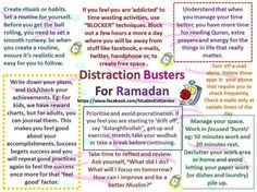 Distraction Busters for RAMADAN!