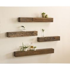 6 Sensible Simple Ideas: Floating Shelves Design Gray how to make a floating shelf night stands.Glass Floating Shelves Built Ins floating shelf design home decor.How To Build Floating Shelves Tvs. Rustic Wooden Shelves, Reclaimed Wood Floating Shelves, Floating Shelves Bedroom, Floating Shelves Kitchen, Pallet Shelves, Wooden Walls, Glass Shelves, Wooden Room, Bedroom Shelves