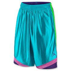 Men's Jordan Court Vision Basketball Shorts| FinishLine.com | Gamma Blue/Court Purple