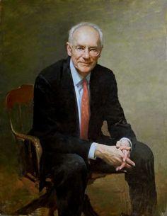 "Burton Silverman, Werner Polak, oil, 2011, 38""x28"","