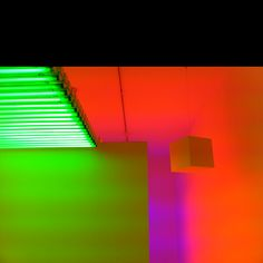 Want this colourful interior lighting  - Neon exhibition @ la Maison
