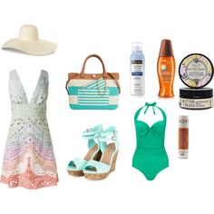 ocean waves by mutiazakiah on Polyvore featuring Valentino, Phase Eight, Tommy Hilfiger, Hampton Sun, Neutrogena and Lucy B.
