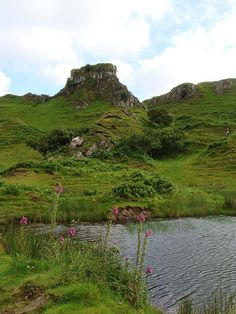 """Castle Ewen"" in the Fairy Glen, Isle of Skye /   The Fairy Glen is an area of weird shaped rocks on the Trotternish Peninsula,"