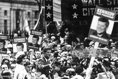 Sen. John F. Kennedy and wife Jackie campaigning for President... News Photo | Getty Images
