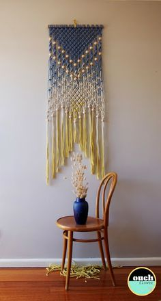 DIY I love this color combo! I plan on doing a variation of this for my curtains I'm going to macrame
