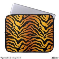 Tiger stripe laptop computer sleeves