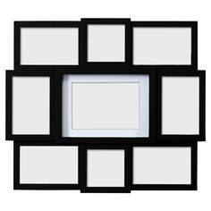 Features:  -Material: Plastic.  -Holds 9 photos.  -Wall hanging.  -Masonite…
