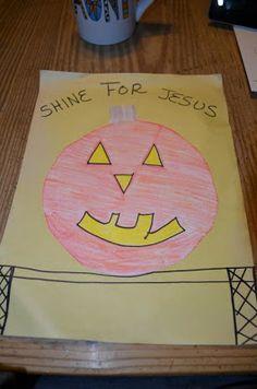Shine for Jesus Craft- Halloween Lesson
