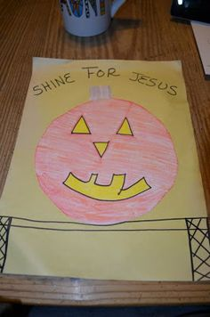 Shine for Jesus Craft- Halloween Lesson