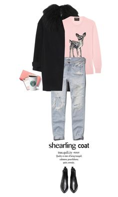 """""""Sweet Shearling Coat"""" by juhh ❤ liked on Polyvore featuring Rebecca Taylor, Markus Lupfer, Abercrombie & Fitch, Kate Spade, Casetify, fashionset, topset, shearlingcoat and Juliajulian"""