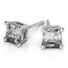 Sensational sparkle in an eye-catching yet comfortable size, you say? Meet the perfect match to any of your stylish outfits: The Asscher Diamond Stud Earrings in White Gold (4 ctw)!  www.brilliance.com