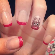 Rudolph nails by Grace Garside