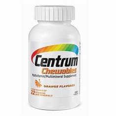 Centrum Chewables Multivitamin/Multimineral Supplement, Tablets, Orange - this has iron ... (it does have aspartame, though ... yuck)