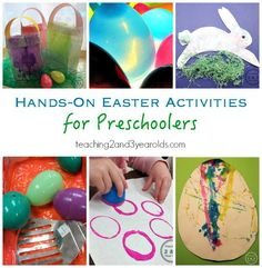 Easter Ideas for Kids - Easter art, Easter colors, Easter Sensory - Teaching 2 and 3 Year Olds