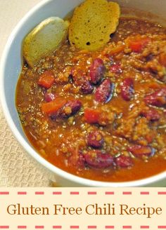Warm up your home with this delicious gluten free chili recipe! My whole family loves this recipe!