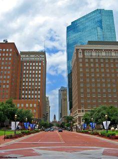 Fort Worth skyline in Texas