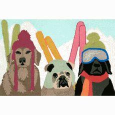 Snow Dogs Rug - 1 x 2